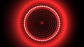 Red pattern made of squares spinning against black background stock video