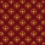 Red pattern with spades. Royalty Free Stock Image