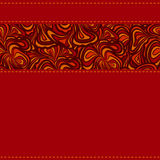 Red Pattern With Stripe Of Abstract Design Stock Images