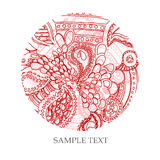 Red pattern. Vector red color pattern circle shape with text Stock Photo