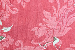 Red Patterned of flowers on pants. Royalty Free Stock Photography