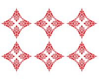 Red patterns. Red pattern which makes circle Royalty Free Stock Image