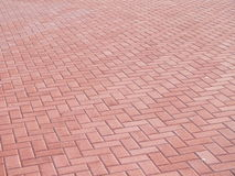 Red paved area Royalty Free Stock Image