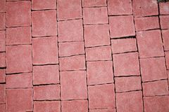 Red pavement background. Pavement texture. stock image