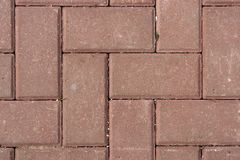 Red pavement stones floor pattern. Top view. Red pavement stones floor pattern. Top view Royalty Free Stock Photography
