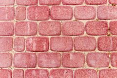 Red pavers as a background. texture. Photo of an abstract texture Royalty Free Stock Image