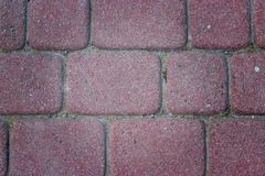 Red paving slabs. Red Concrete Stone Paving Slab on the warehouse Royalty Free Stock Photography