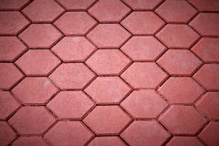 Red Paving Tiles Stock Photo