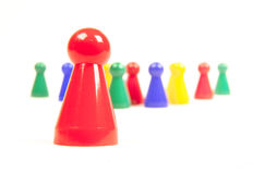 Red pawn Stock Photography