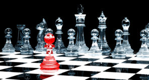 Red Pawn - chess Stock Photo