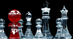 Red Pawn - chess stock images