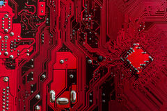 Red PCB computers Stock Photography