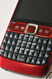 Red pda phone Stock Images