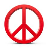 Red Peace sign Royalty Free Stock Photos