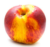 Red peach. On white. Isolation Royalty Free Stock Photography