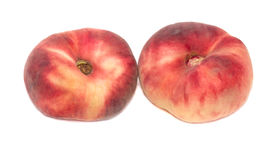 Red peaches isolated on white background Royalty Free Stock Image