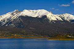 Red Peak. 13,100 foot Red Peak above Lake Dillon in Central Colorado Stock Image