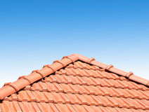 Red peaked roof Royalty Free Stock Images
