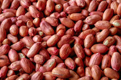 Red Peanut roasted and salted background Stock Photo