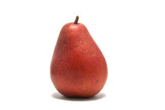 Red Pear. A red D'Anjou Pear isolated on white royalty free stock images