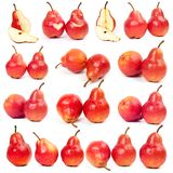 Red pear on all sides Stock Image