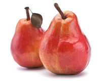 Red pear fruit Stock Image