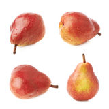 Red pear fruit isolated Royalty Free Stock Images
