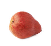 Red pear fruit isolated Stock Photography