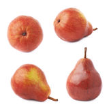 Red pear fruit isolated Stock Photos