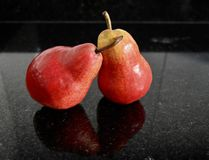 Red pear fruits Royalty Free Stock Photography