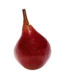 Red pear isolated on white Royalty Free Stock Photos