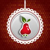 Red Pear Vector  Illustration Stock Photo