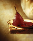 Red Pear in Wine Stock Photos