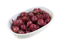 Red Pearl Onions Dish Royalty Free Stock Images