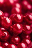 Red Pearl Necklace Stock Photo