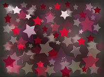 Red and pearl stars. Flying red and pearl stars on a dark background Royalty Free Stock Photos