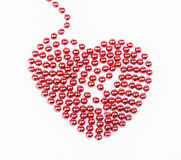 Red pearled heart Royalty Free Stock Photo