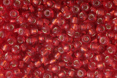 Red pearls Stock Image