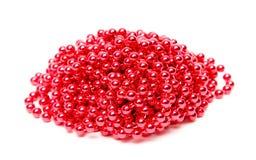 Red pearls imitation Stock Photo