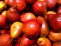 Red pears closeup Stock Photo