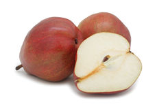Red pears, isolated Royalty Free Stock Images