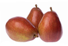 Red Pears Isolated Royalty Free Stock Photography