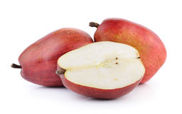 Red pears isolated on white background Royalty Free Stock Photography