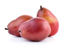 Red pears isolated on white background Stock Photography