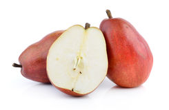 Red pears isolated Royalty Free Stock Image