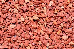 Red pebbles texture Stock Photo
