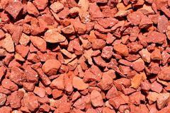 Red pebbles texture royalty free stock image