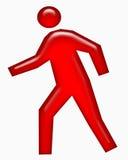 Red pedestrian walking Stock Photos