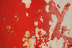 Red peeling metal grunge background Royalty Free Stock Image