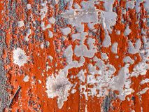 Red peeling paint. Royalty Free Stock Image